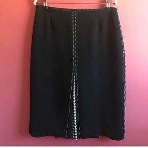 Alberto Makali Black & White Aline Skirt Size 2